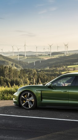 Porsche Taycan Turbo, electric cars, 2019 cars, 8K (vertical)