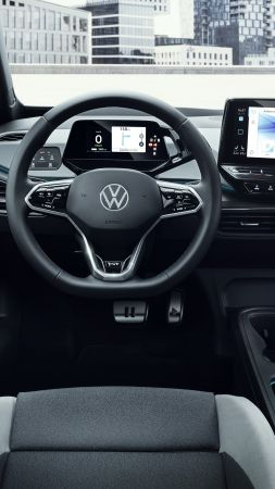 "Volkswagen ID.3 ""1st"", interior, electric cars, 2020 cars, 5K (vertical)"