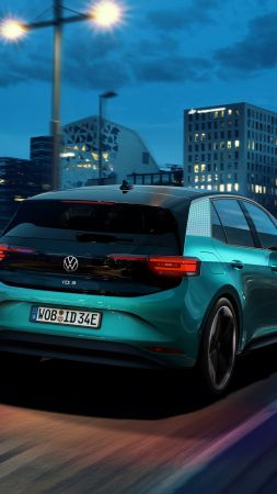 "Volkswagen ID.3 ""1st"", electric cars, 2020 cars, 5K (vertical)"