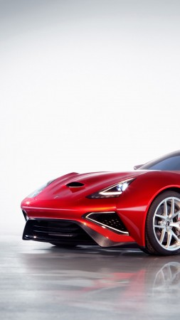 Icona Vulcano, supercar, Icona, Н-Turismo, hybrid, Shanghai, sports car, red, front (vertical)