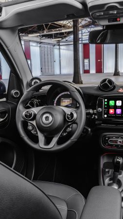 Smart EQ fortwo, interior, 2020 cars, electric cars, 8K (vertical)