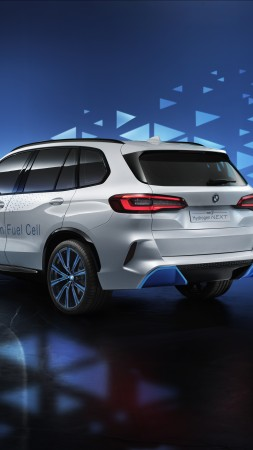 BMW i Hydrogen NEXT, SUV, hydrogen fuel cell, 4K (vertical)