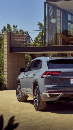 Volkswagen Atlas Cross Sport R-Line, SUV, 2020 Cars, 4K (vertical)
