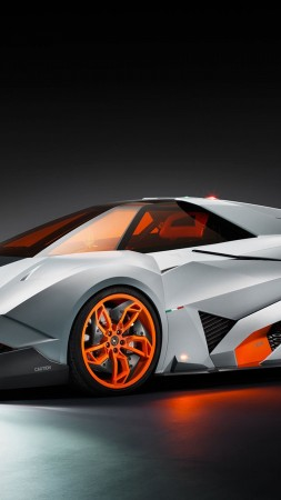 egoista, lamborgini, supercar, gray, matt, orange, concept (vertical)