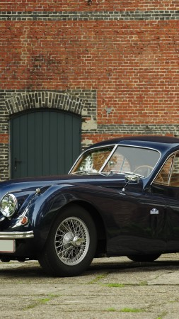 Jaguar XK120, classic cars, Jaguar, retro, sports car, coupe, XK100, 1950