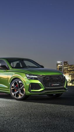 Audi RS Q8, SUV, 2020 cars, 4K (vertical)