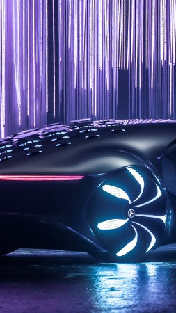 Mercedes-Benz VISION AVTR, CES 2020, electric cars, 4K (vertical)