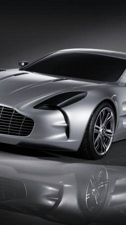 Aston Martin One-77, supercar, Aston Martin, limited edition, luxury cars, sports car, silver