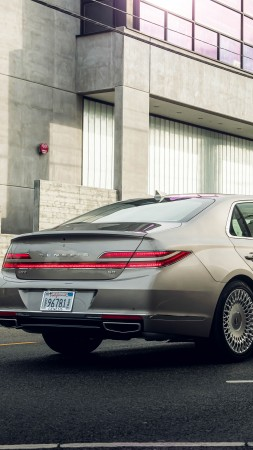 Genesis G90, 2020 cars, luxury cars, 8K (vertical)