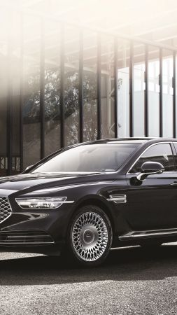 Genesis G90 Limousine, 2020 cars, luxury cars, HD (vertical)