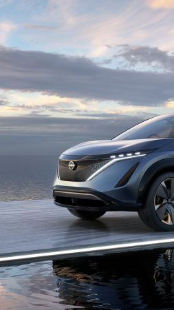Nissan Ariya, electric cars, SUV, 5K (vertical)