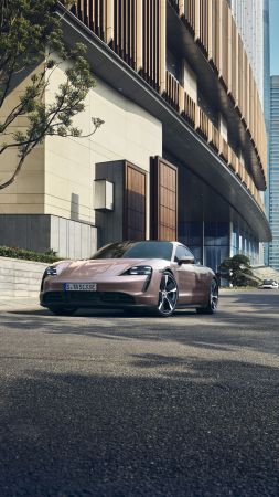 Porsche Taycan, 2020 cars, electric cars, 4K (vertical)