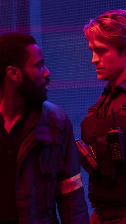 Tenet, John David Washington, Robert Pattinson (vertical)