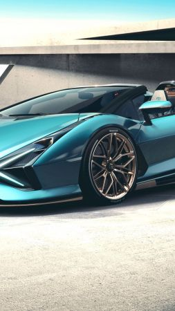 Lamborghini Sian Roadster, supercar, 2021 cars, electric cars (vertical)