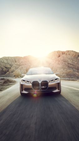 BMW i4, 2021 cars, electric cars, 4K (vertical)