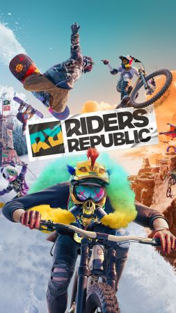 Riders Republic, artwork, 8K (vertical)