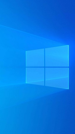 Windows 10, Microsoft, blue, 4K (vertical)