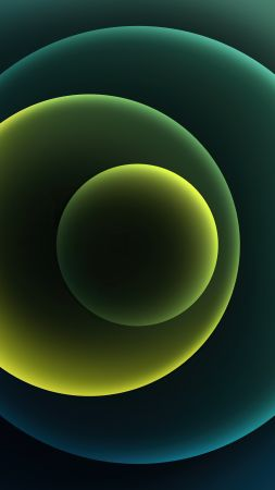 iPhone 12, green, abstract, Apple October 2020 Event, 4K (vertical)