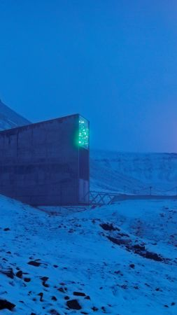Svalbard Global Seed Vault, Svalbard, Norway, 5K (vertical)