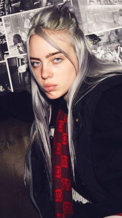 Billie Eilish, singer, blonde, 4K (vertical)