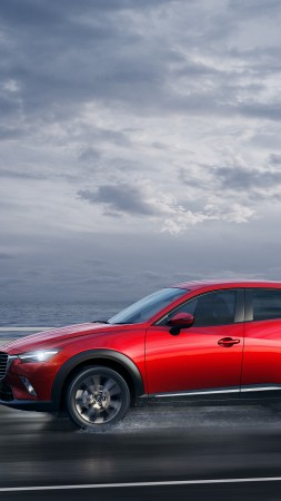 Mazda CX-3, crossover, Mazda, SUV, side, 2015 car, review, rent, buy (vertical)