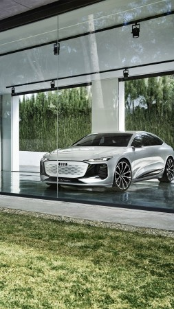 Audi A6 e-tron, 2021 Cars, electric cars, 4K (vertical)