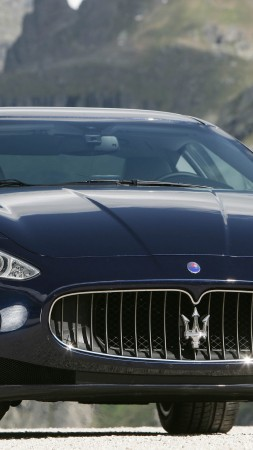 Maserati GranTurismo, supercar, Maserati, Gran Turismo, luxury cars, sports car, speed, test drive, front (vertical)