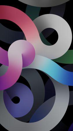 iPad Air 2020, dark, abstract (vertical)
