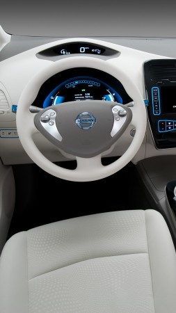 Nissan LEAF, electric cars, Nissan, interior, city cars, Best Electric Cars 2015, ecosafe, review, side, buy, rent, 2015 Detroit Auto Show. NAIAS