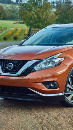 Nissan Murano, crossover, Nissan, Gen 3, SUV, 2015 car, front, review, rent, buy, 2015 Detroit Auto Show. NAIAS (vertical)