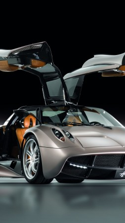 Pagani Huayra, supercar, Pagani, sports car, luxury cars, speed, test drive, doors, front, review (vertical)