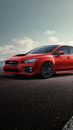 Subaru WRX STI, concept, Subaru, Impreza, sports car, speed, test drive, red (vertical)