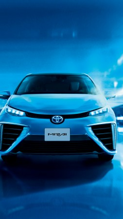 Toyota Mirai, hydrogen, Toyota, electric cars, Best Electric Cars 2015, front, ecosafe, concept, review, test drive, 2015 Detroit Auto Show. NAIAS (vertical)