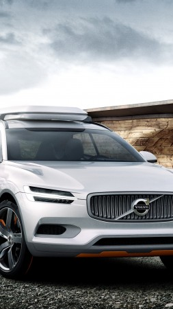 Volvo XC90, concept, crossover, Volvo, SUV, hybrid, luxury cars, review, test drive, front, buy, rent (vertical)