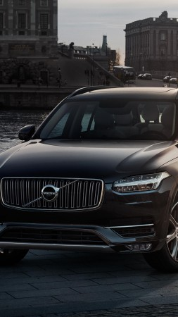 Volvo XC90, crossover, Volvo, SUV, hybrid, luxury cars, review, test drive, front, buy, rent (vertical)