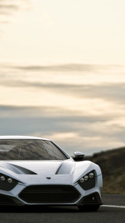 Zenvo ST1, supercar, Zenvo, luxury cars, sports car, speed, review, test drive, white, front (vertical)