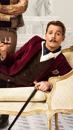 Mortdecai, 2015, film, movie, Johnny Depp, Charlie Mortdecai, Gwyneth Paltrow, Johanna Mortdecai (vertical)