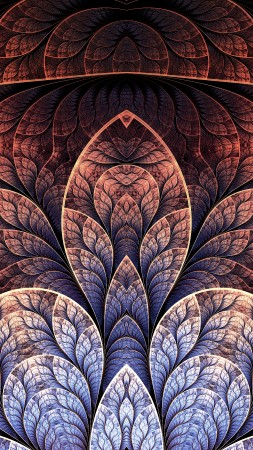 pattern, 4k, 5k wallpaper, leaf, brown, background (vertical)