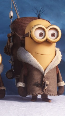Minions, cartoon, yellow, funny, Best Animation Movies of 2015 (vertical)