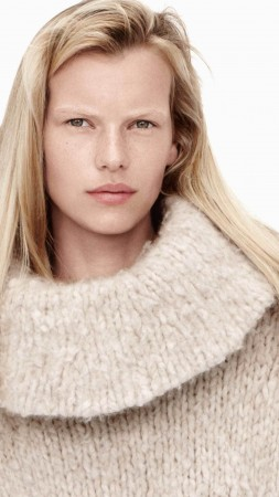 Lina Berg, model, spring 2015 top models, blonde, look, white background (vertical)