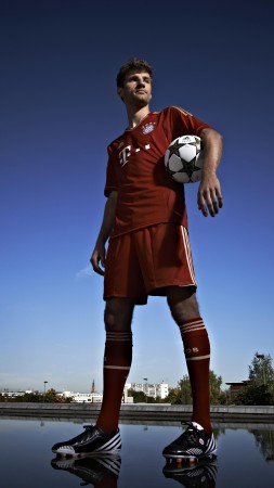 Football, Thomas Muller, soccer, The best players 2015, FIFA, Bayern Munich, striker (vertical)