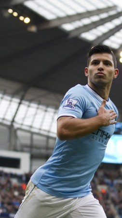 "Football, Sergio Aguero, soccer, The best players 2015, FIFA, Manchester City, Striker, Sergio Leonel ""Kun"" Agüero Del Castillo (vertical)"