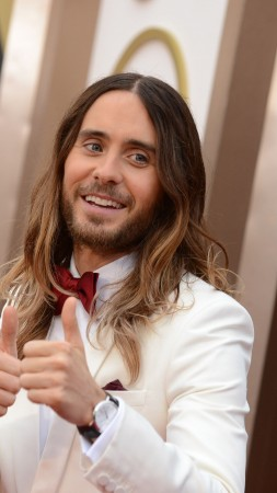 Jared Leto, Most Popular Celebs in 2015, oscar, 86th Academy Awards, actor, singer, songwriter, director (vertical)