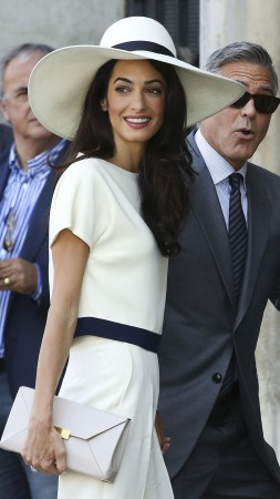 Amal Alamuddin, George Clooney, Most Popular Celebs in 2015, wedding, lawyer, actor (vertical)