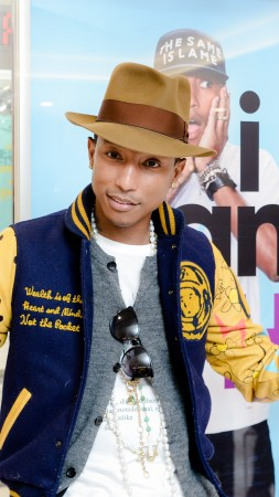 Pharrell Williams, Most Popular Celebs in 2015, Grammys 2015 Best Celebrity, singer, songwriter, Happy, Best Pop Solo Performance (vertical)