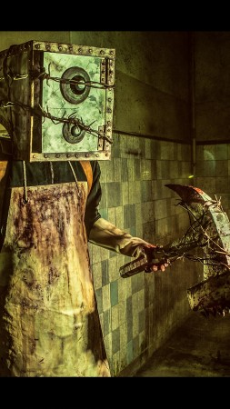 The Evil Within, game, survival horror, Evil Within, The Keeper, Boxman, axe, monster, Mikami, cosplay (vertical)