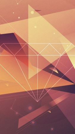 polygon, diamond, lines, brown, yellow, triangles