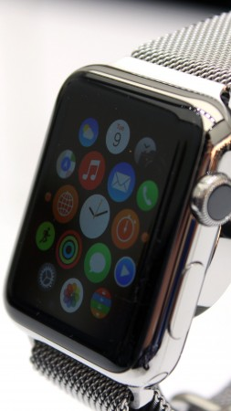 Apple Watch, watches, review, interface, iWatch, wallpaper, Apple, display, silver, Real Futuristic Gadgets (vertical)