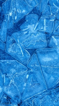 ice, 4k, 5k wallpaper, pattern, blue, background (vertical)