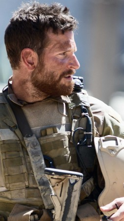 American Sniper, Best Movies of 2015, Chris Kyle, Academy Awards, Bradley Cooper, biographical, Sienna Miller, US Army, USA, war (vertical)
